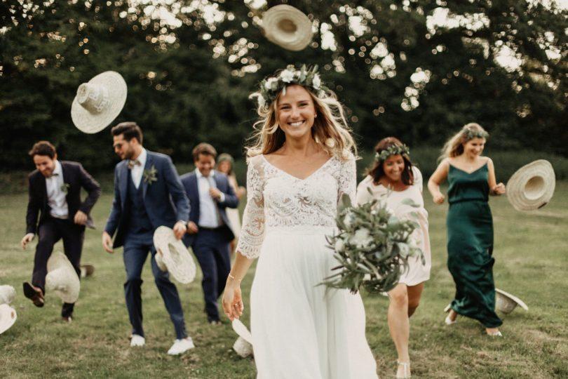 Un mariage aux Forges de Paimpont en Bretagne - Photos : Geometry Love - Blog mariage : La mariée aux pieds nus