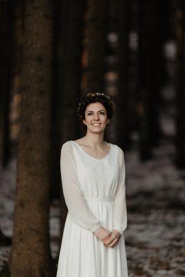 Un mariage en hiver sous la neige en Alsace - Photos : Capyture - Blog mariage : La mariée aux pieds nus