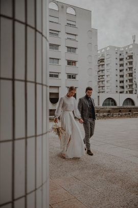 Un mariage moderne en blanc à Bordeaux - Photos : Clea Photographe - Blog mariage : La mariée aux pieds nus