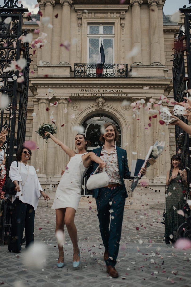 Un mariage à Paris à l'Hôtel 1K - Photos : Coralie Monnet - Blog mariage : La mariée aux pieds nus