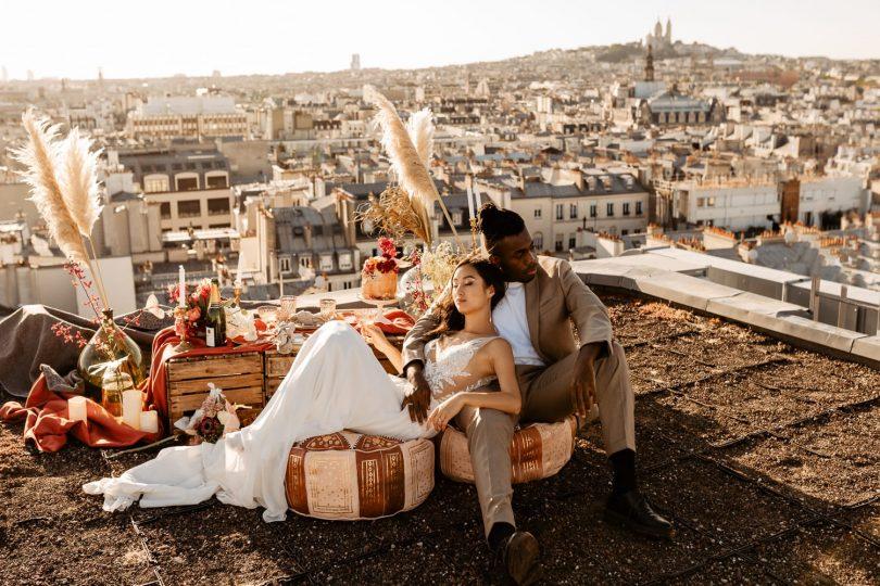 Un mariage sur les toits de Paris - Photos : Throught the glass Paris - Blog mariage : La mariée aux pieds nus