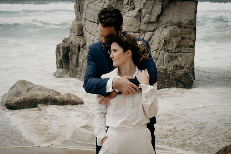 Un mariage sur la côte sauvage de Quiberon - La mariée aux pieds nus