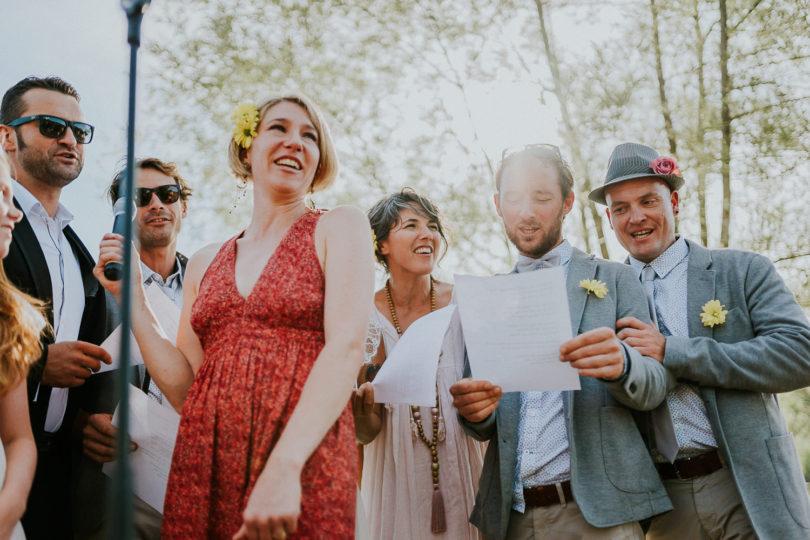 Un mariage rock dans le jardin de la maison familiale - A découvrir sur le blog mariage www.lamarieeauxpiedsnus.com - Photos : Benjamin Le Du Photography