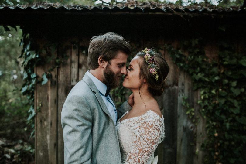 Un mariage rustique dans une forêt des Landes
