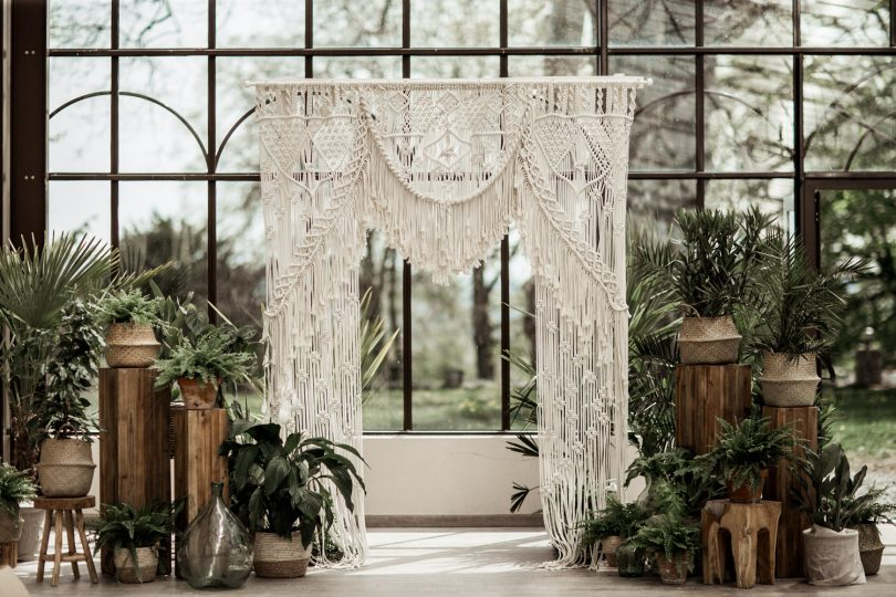 Un mariage végétal et exotique aux inspirations bohèmes