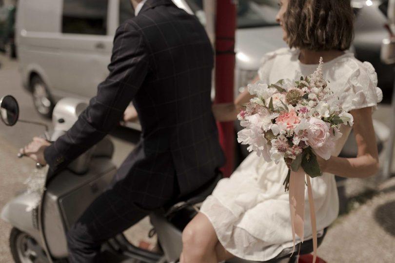 Un mariage en vert en Bretagne - La mariée aux pieds nus