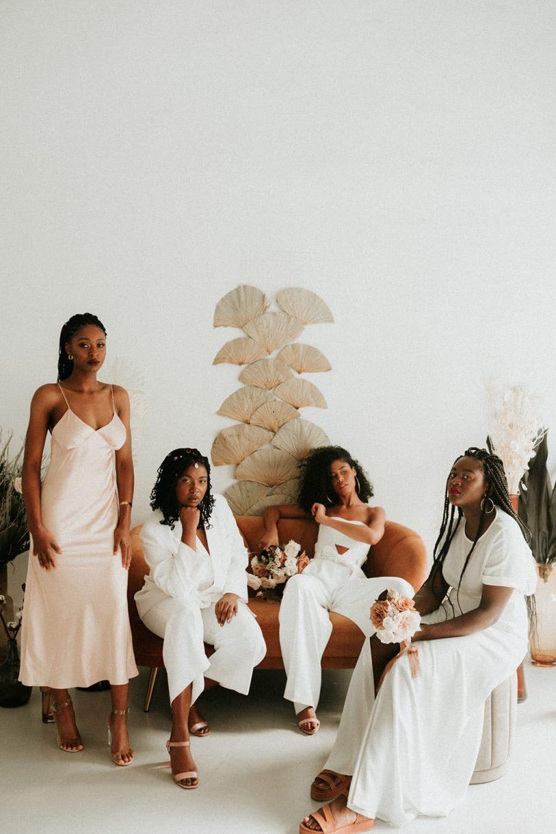 Un mariage simple et moderne en ornage et blanc - Photos : Anne Sophie Benoit - Blog mariage : La mariée aux pieds nus