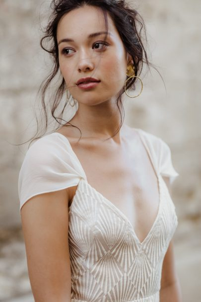 Marielle Maury - robes de mariée - Collection 2020 - Photos : Capyture - Blog mariage : La mariée aux pieds nus
