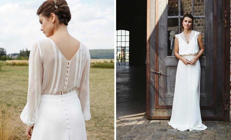 Mathilde Marie - Robes de mariée - Collection 2018 - Blog mariage : La mariée aux pieds nus