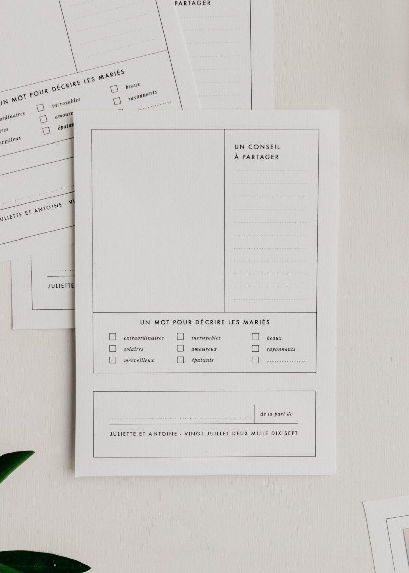 DiY des cartes à message pour votre livre d'or avec HP Sprocket - Blog mariage La mariée aux pieds nus