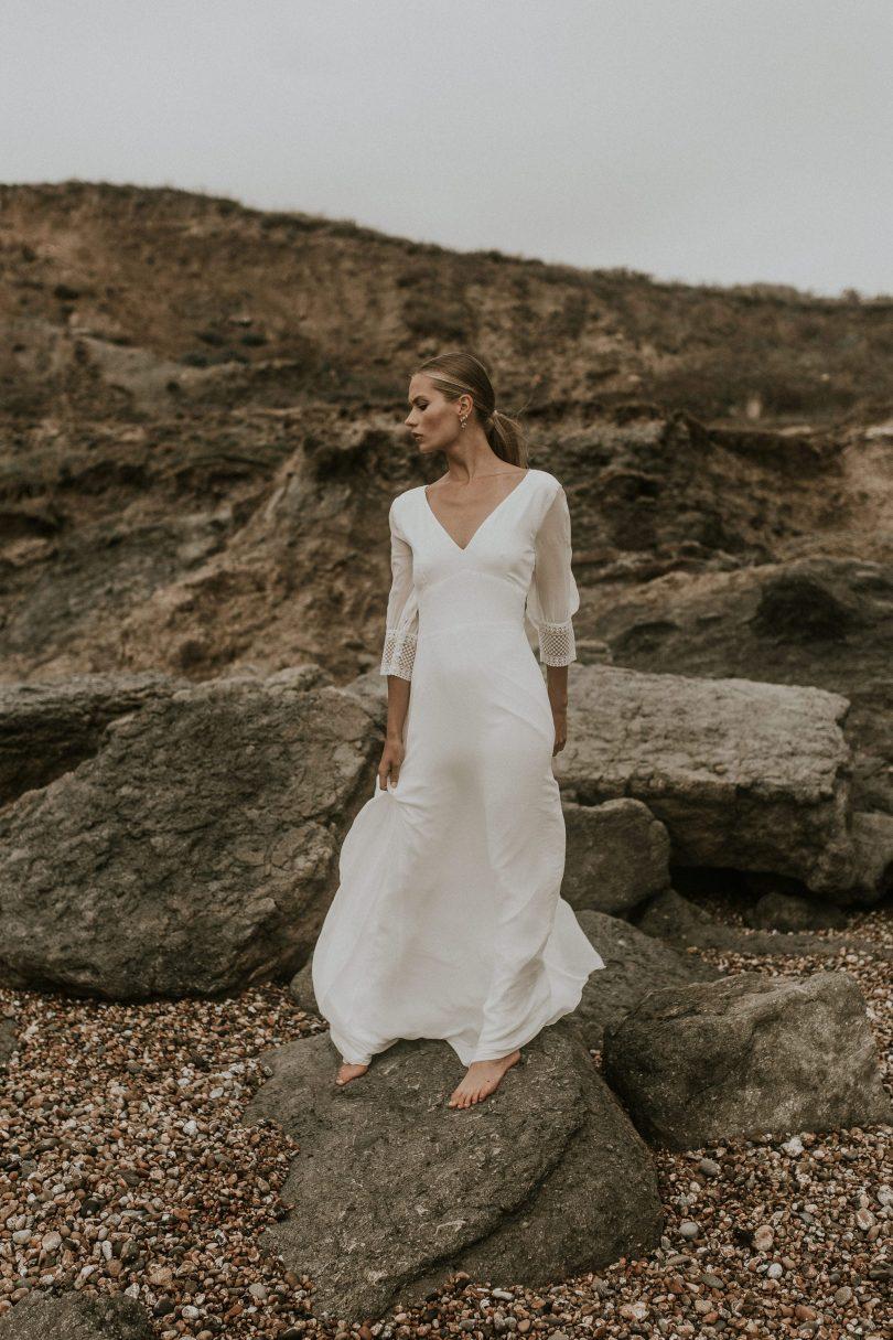 Orlane Herbin - Robes de mariée - Collection 2020 - Photographe : David Maire - Blog mariage : La mariée aux pieds nus