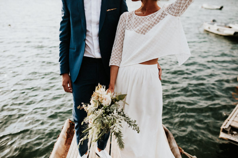 Un mariage sur une plage de Corse