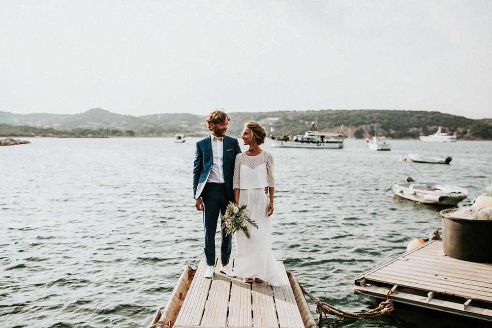 Un mariage au bord de la mer sur une plage de Corse , A découvrir sur