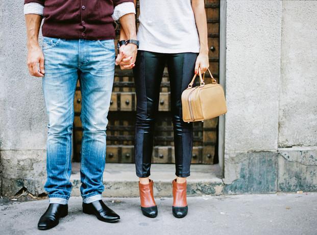 Michael Ferire - Une seance en amoureux a Montmartre - La mariee aux pieds nus