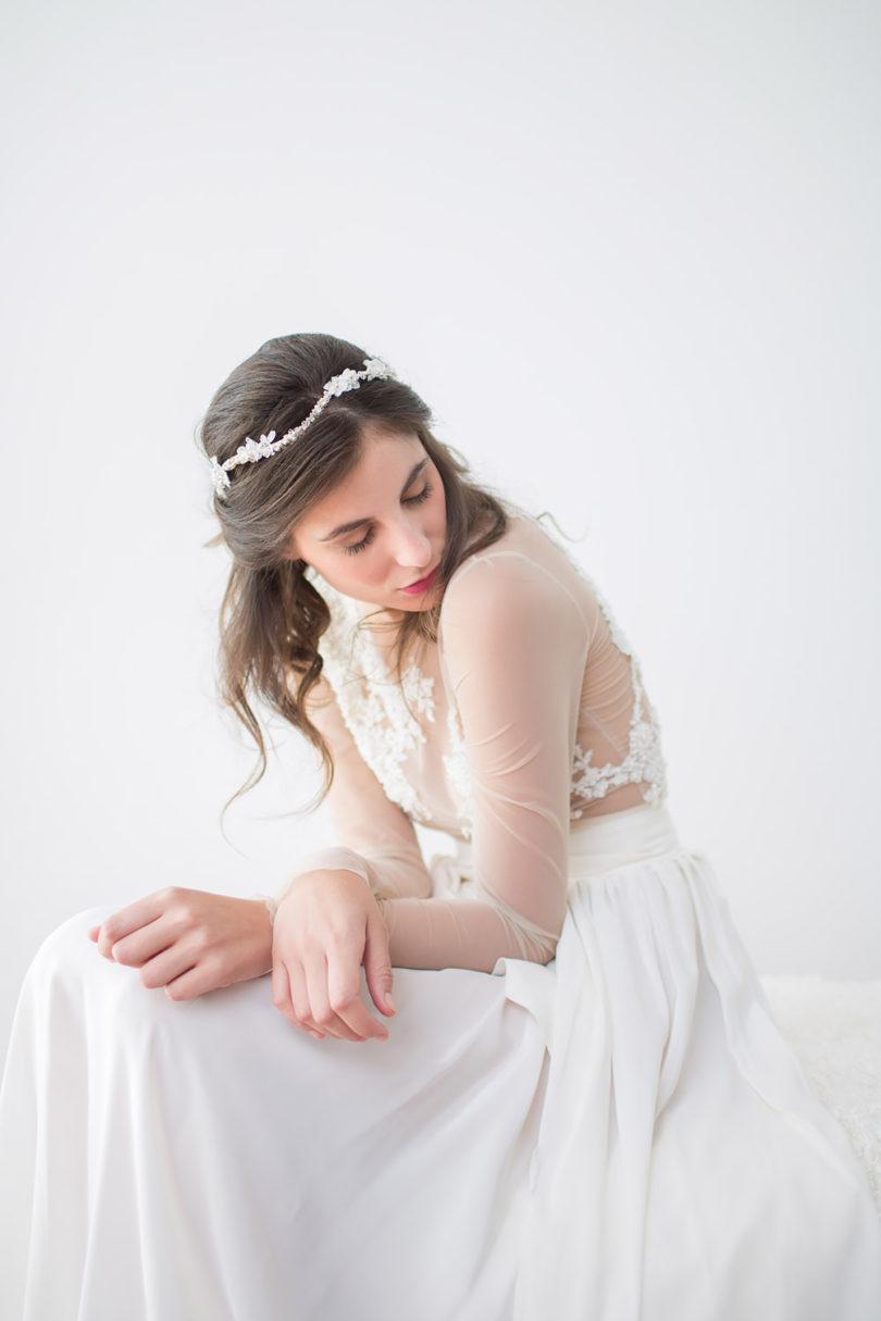Rhapsodie - Accessoires de tête pour mariée - A découvrir sur le blog mariage www.lamarieeauxpiedsnus.com - Photos : Claude Masselot