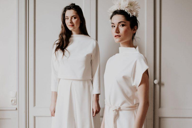 Delphine Josse - Robes de mariée - Collection 2021 - Photos : Céline Deligey - Bog mariage : La mariée aux pieds nus