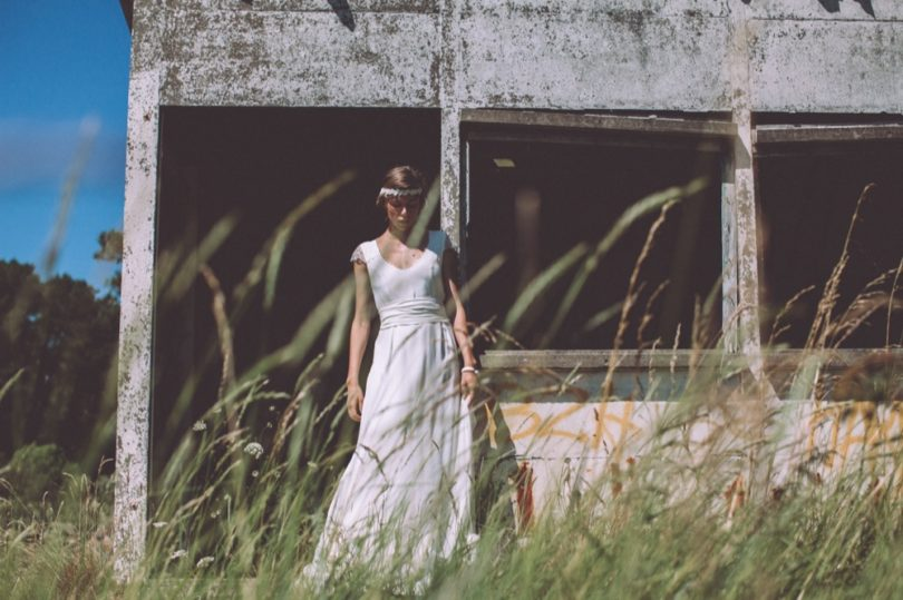 La mariée aux pieds nus - Photo : Laurence Revol - Robe de mariée Lorafolk - Collection 2016 - Modele Rosa