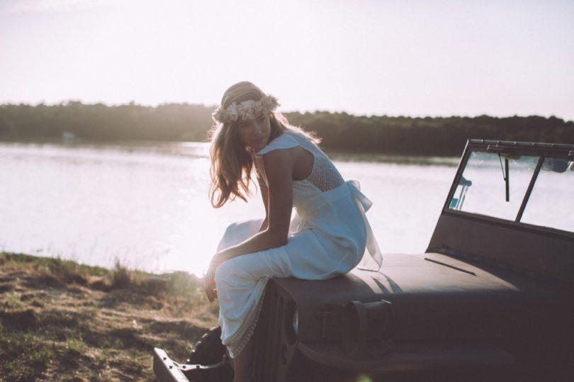 La mariée aux pieds nus - Photo : Laurence Revol - Robe de mariée Lorafolk - Collection 2016 - Modele Salie