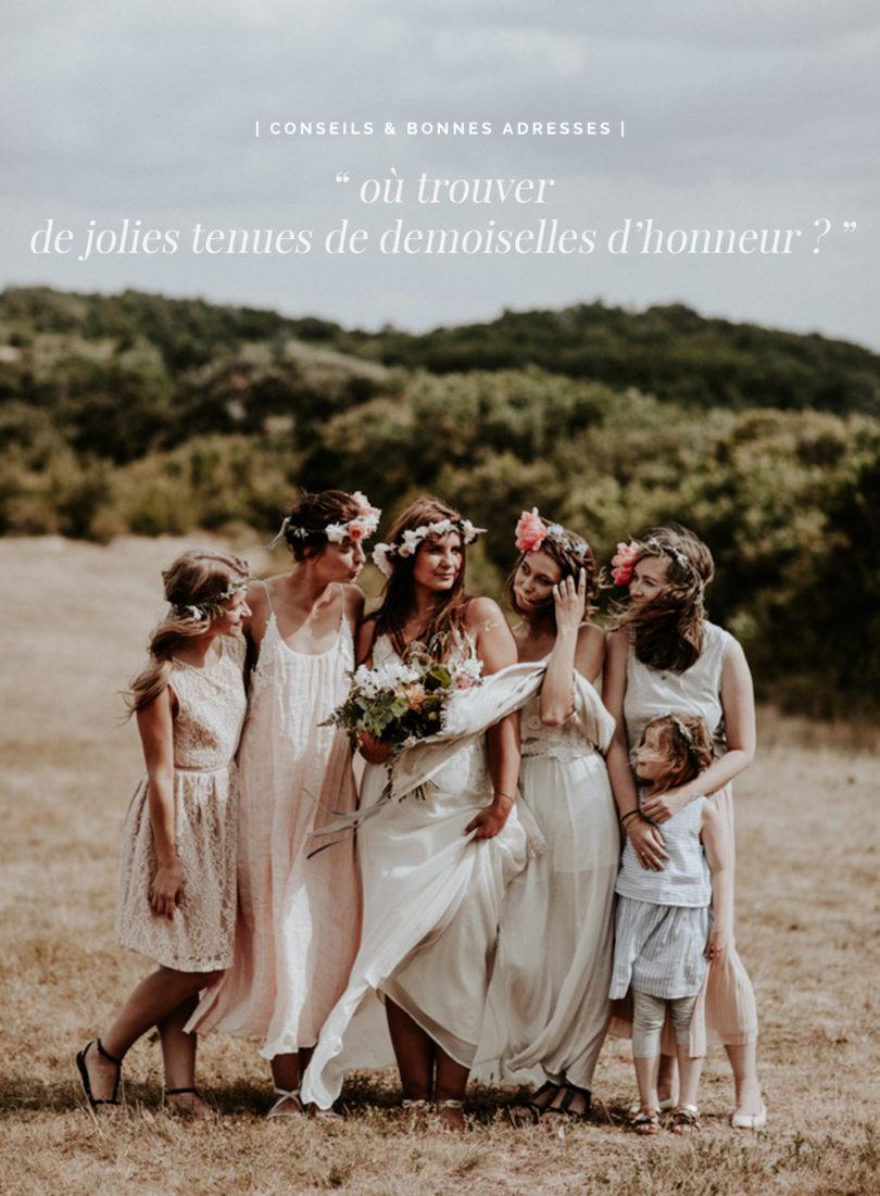 Où trouver une robe de demoiselle d'honneur pour un mariage ? Mes adresses préférées et mes astuces sur le blog mariage www.lamarieeauxpiedsnus.com
