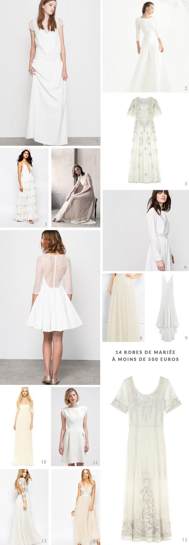 14 robes de mariée à moins de 500 euros à découvrir sur La mariée aux pieds nus