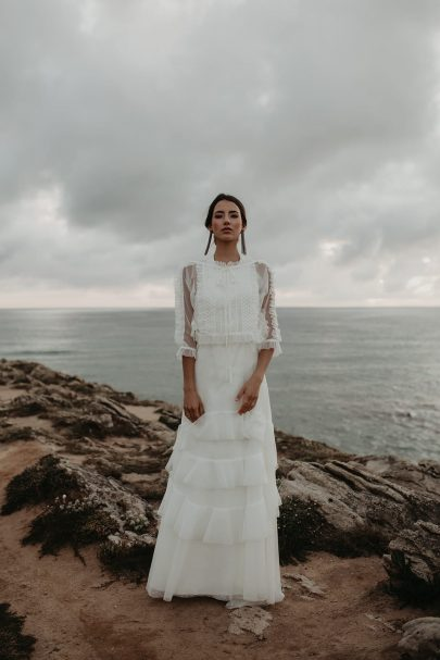 Joana Montez - Robes de mariée - Collection 2021 - Photos : Sandie Boloto - Blog mariage : La mariée aux pieds nus