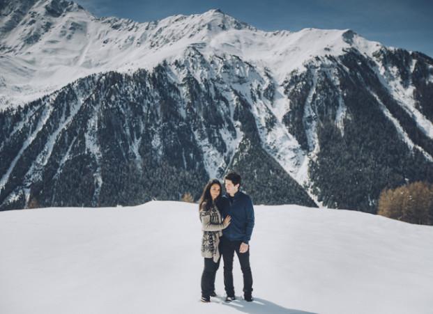Sebastien Boudot - Une seance engagement a la montagne - La mariee aux pieds nus