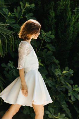 Série Blanche - Robes de mariée - La mariée aux pieds nus