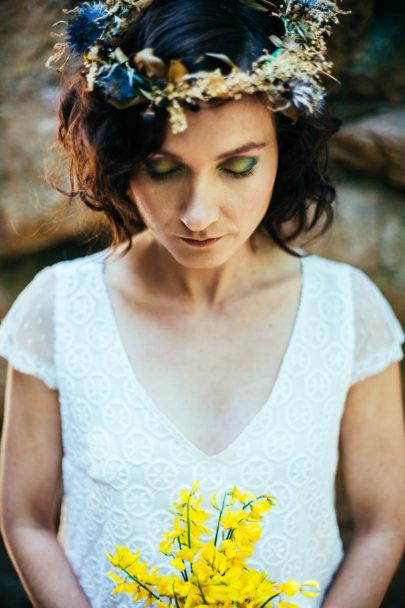 Un mariage en jaune et bleu sur La mariée aux pieds nus - Stylisme : Style it event - Photos : Neupap Phoography