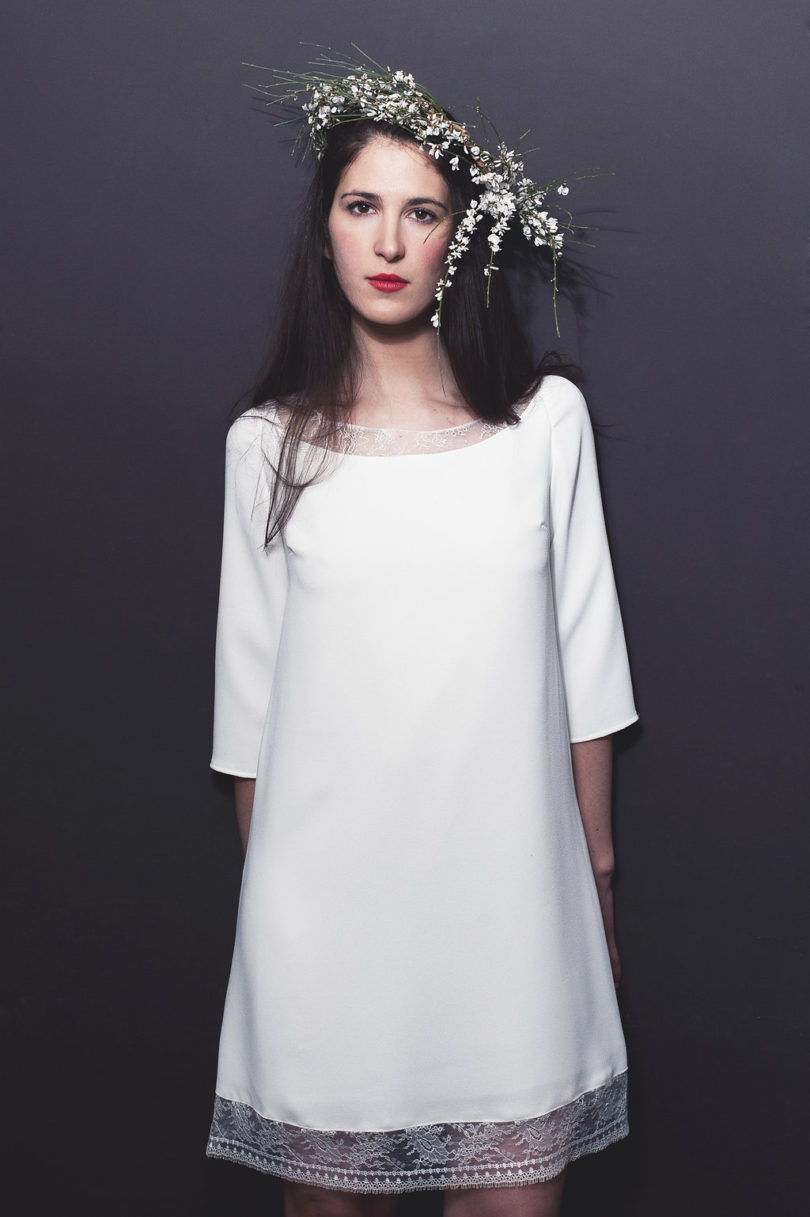 Stéphanie Wolff - Robes de mariée courtes - Mariage Civil - A découvrir sur le blog mariage www.lamarieeauxpiedsnus.com - Photos : Alice Bee