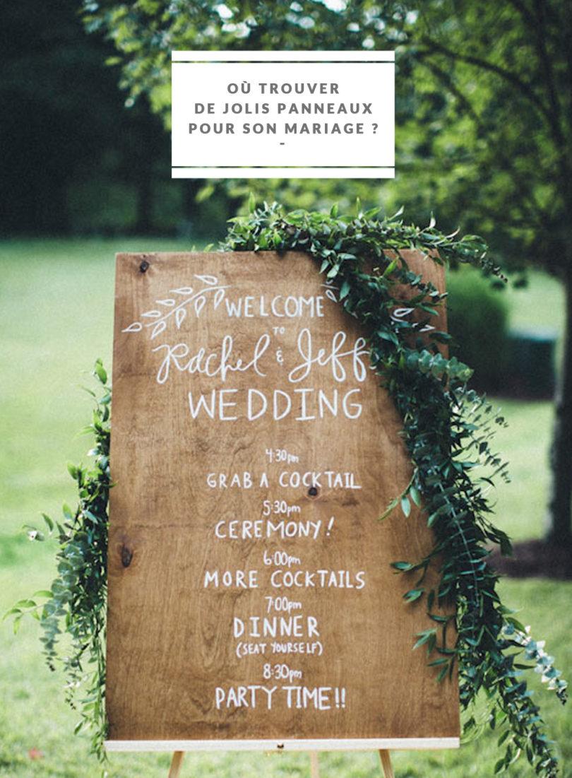 Exceptionnel Où trouver de jolis panneaux pour son mariage ? AA43