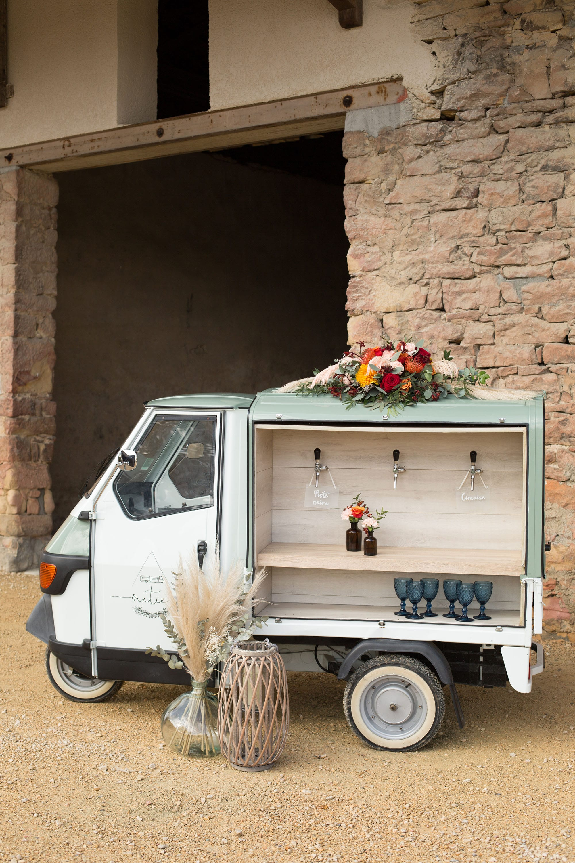 Vintie's - Photobooth - Vespa triporteur cocktail mariage